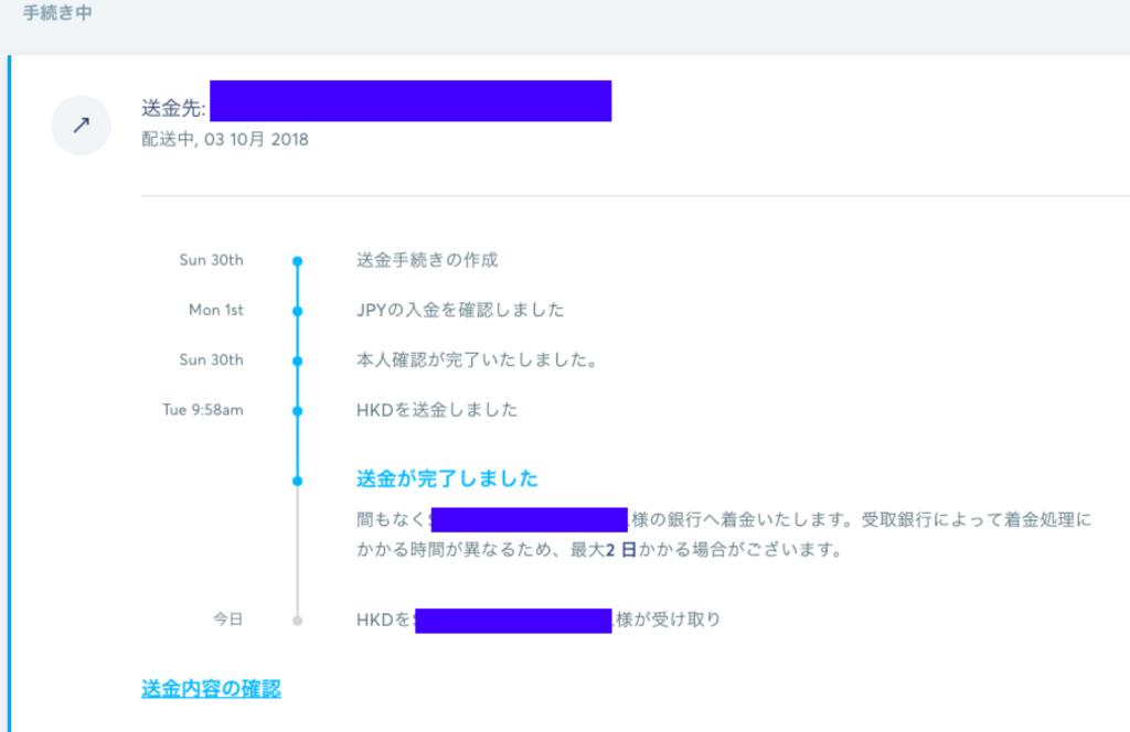 transferwise 送金プロセス