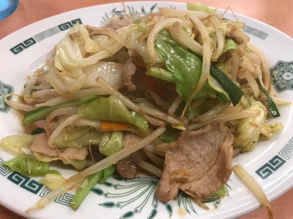 日高屋 肉野菜炒め